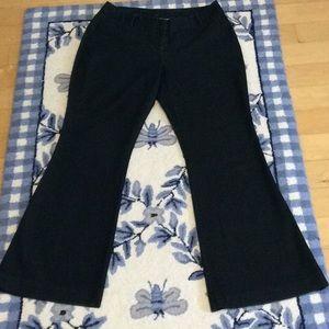 Worthington Curvy Fit Denim Blue Trousers